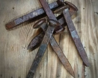 Vintage Railroad Spikes, Railroad Track Spike, Railroad Hardware, Old Railroad Spikes, DIY Crafts