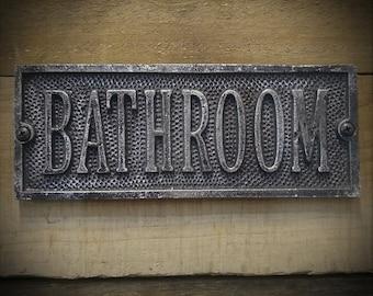 Bathroom Signs - Vintage Style Bathroom Plaque