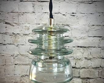 Insulator Pendant Lights - Insulator Light - LED Glass Insulator Pendant Light - Kerr Insulator Light