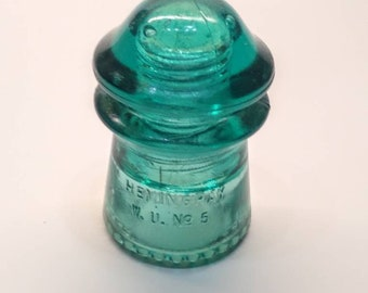 Hemingray No 5 Glass Insulator - CD 125 - Western Union Insulator