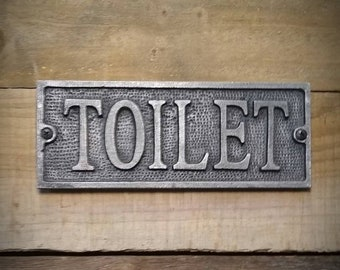 Toilet Sign - Vintage Bathroom Sign - Restroom Decor