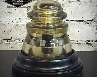 Glass Insulator Lamp - Glass Insulator Light- Glass Insulator Lights - Glass Insulator - Lamp - Glass Insulators Lamps