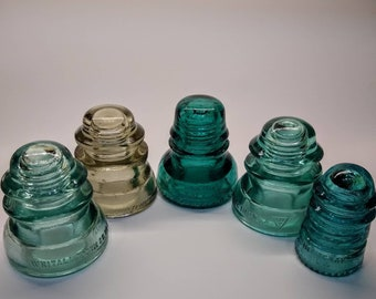 Glass Insulators - Hemingray - Whitall Tatum - Armstrong Glass Insulator