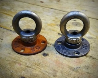 Ceiling Hook Loop - Industrial Ceiling Eye Bolt - Ceiling Light Hook - Swag Hook Industrial Decor