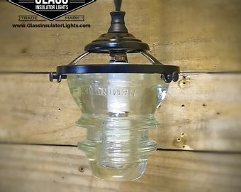 Glass Pendant Light - Kitchen Pendant Light Glass Insulator Light - Pendant Lights - 110v