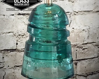 Glass Insulator Light - Pendant Light - Insulator Light - LED Insulator Lights - Glass Insulators Insulator Pendant Lights Industrial Lights