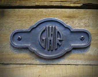 Railroad Plaque,  Railroad Sign, Vintage Style Cast Iron Railroad Decor
