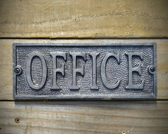 Office Sign - Office Decor - Vintage Signs - Vintage Plaque