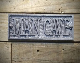 Man Cave Sign - Man Cave Decor - Vintage Industrial Decor