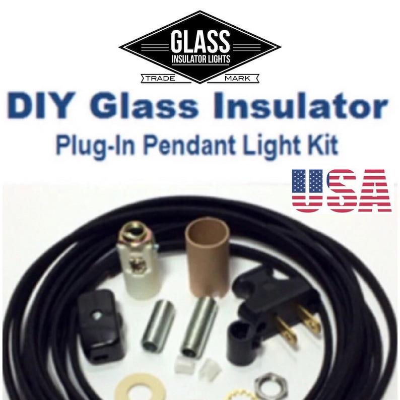 Insulator Swag Light Kit  Plug-In Pendant Lights Parts Kit  image 0