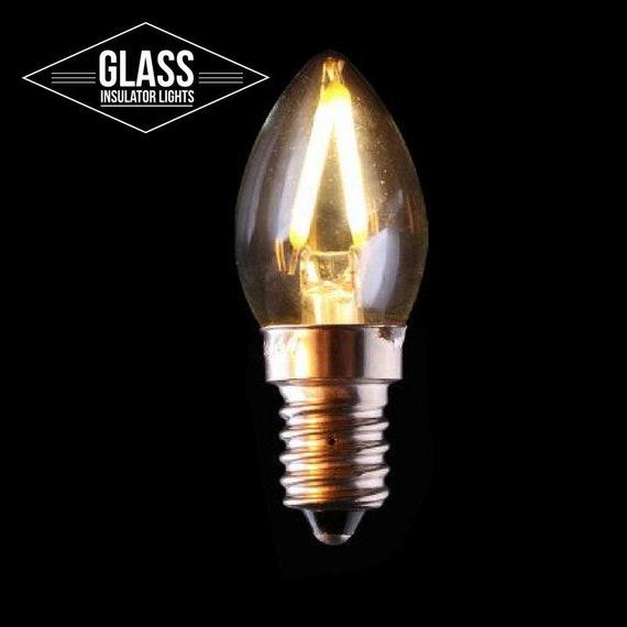Candelabra Lampe D'isolant En Cru De E12 Léger Ampoule Led Pour Verre Modèle Bulbe Isolant Des Lumières f7by6g