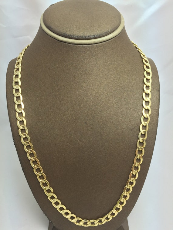 10K Solid Yellow Gold 8MM Hollow Cuban Chain Multiple  97b2ef7bed0b