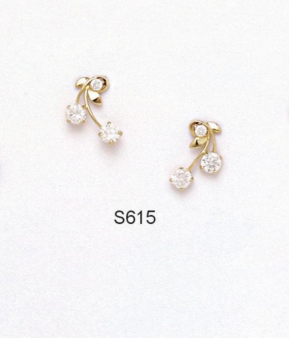 Mia Diamonds 14k Yellow Gold 10x8mm Emerald Cut Cubic Zirconia Earrings