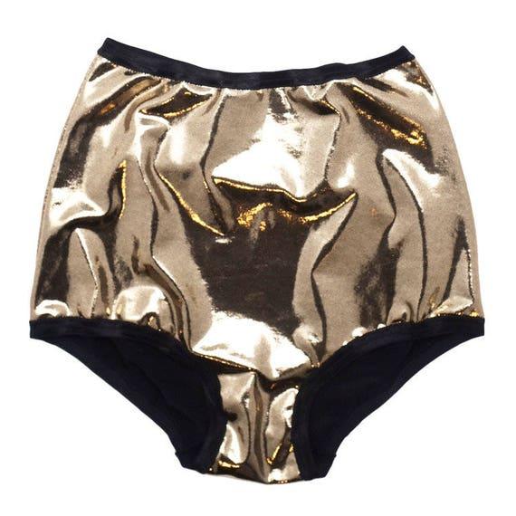 neueste Art von zuverlässige Qualität toller Rabatt für Gold hohe Taille Unterwäsche, Pin Up Dessous, glänzende Höschen, Gold  Unterwäsche, Metallic Dessous, Urlaub Dessous, Geschenke für sie, Strumpf  ...