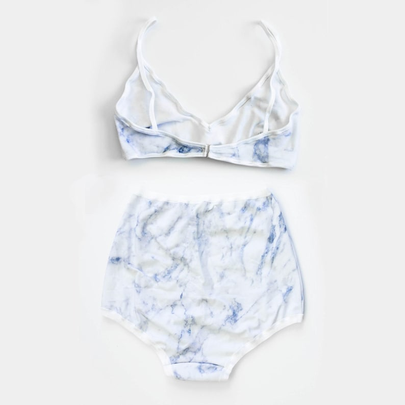 a7baff212a Marble Lingerie White Modern Lingerie Set Pin Up Panties