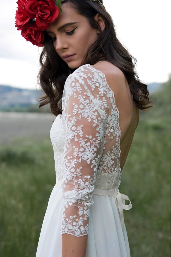 The May Gown | Bohemian wedding dress| Low back | Beautiful  lace | Modern Bridal