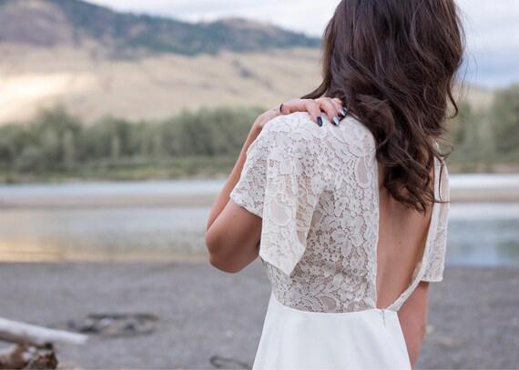 July Wedding dress | Bohemian style beach wedding dress handmade | Modern Beach Wedding Dress Sample wedding dress