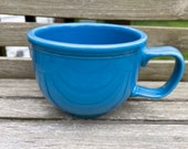 Retired Fiesta Peacock Blue jumbo Mug Soup bowl Fiestaware