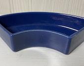 Vintage Fiestaware relish tray side insert Fiesta cobalt blue - unmarked version