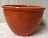 Vintage Fiesta Radioactive Red 2 mixing or nesting bowl Fiestaware old with inside rings