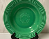 vintage Fiestaware rimmed soup bowl deep plates original light green Fiesta