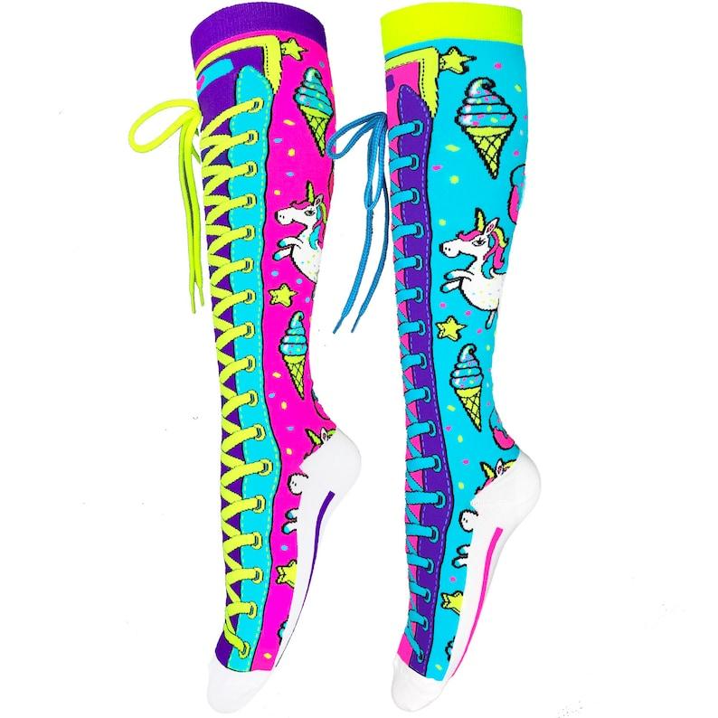 Unicorn Sokken Madmia Sokken Verjaardag Sokken Fun Sokken Gek Etsy