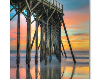San Simeon ca. Pier Sunset photo /  California Hwy 1 photo / Ocean Photo on canvas / central coast california photo / cambria photo /
