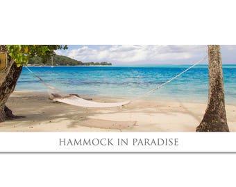 hammock photo/beach hammock photo/hammock print/bora bora photo/bora bora print/beach photography/beach print/tropical photo/ocean wall art