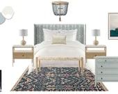 Shibori Mist Boho Bedroom Decor Package