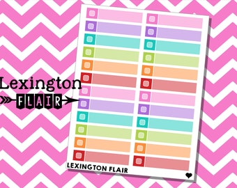 Skinny Label with Checkbox Planner Stickers Work great in your Happy Planner ECLP and More