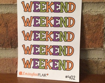 Set of 5 Halloween Weekend Planner Stickers For Your Planner or Calender. Works Great for ECLP and happy planner #313