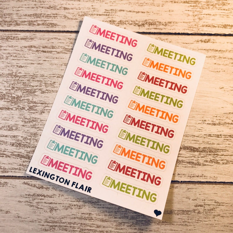 lots of size and color options to fit any color palette and size planner Meeting planner stickers