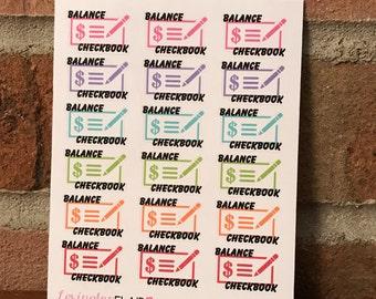 Balance Checkbook Planner Stickers