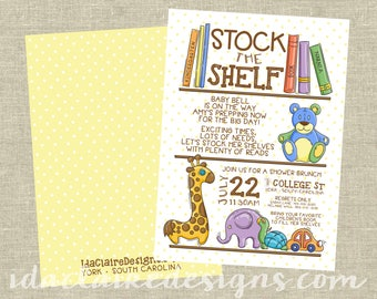 Baby Shower Digital Download | Stock the Shelf | Book Shower