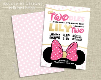 Birthday Party Digital Download | Minnie Mouse | Pink TWOdles