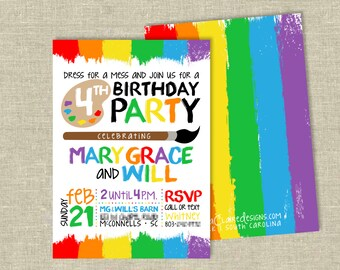 Birthday Party Digital Download | Art Party