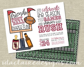 Baby Shower Digital Download | Football Tailgate