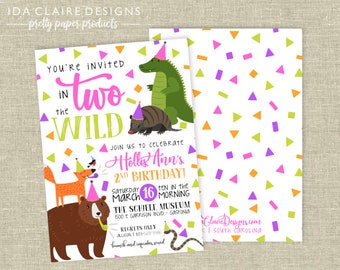Birthday Party Digital Download | In TWO the Wild | Museum Zoo Safari Jungle Birthday