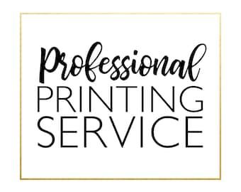 Invitation Printing Service (includes white envelopes)
