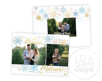 Christmas Photo Card | Baby/Pregnacy Announcement | The More the Merrier