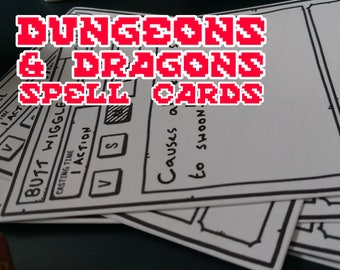 Dungeons & Dragons Compatible Spell Cards