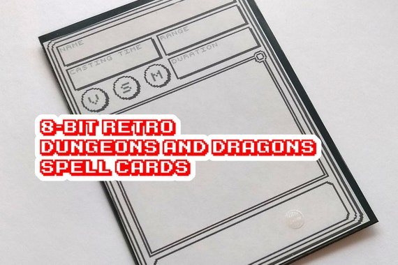 Donjons & Dragons sort de 8-Bit Compatible cartes