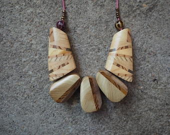 Chocolate Colored Wooden Necklace