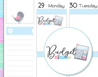 FM18 ~ Budget Planner Stickers - Budget Reminders