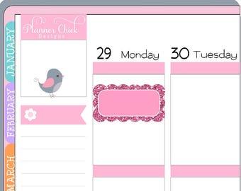SH005 ~ Glitter Scallop Half Boxes - Planner Stickers for Erin Condren Life Planner, stickers for Happy Planner