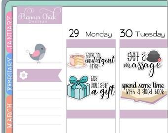 AE65 ~ Birthday Month Bucket List - Planner Stickers for Erin Condren Life Planner, stickers for Happy Planner