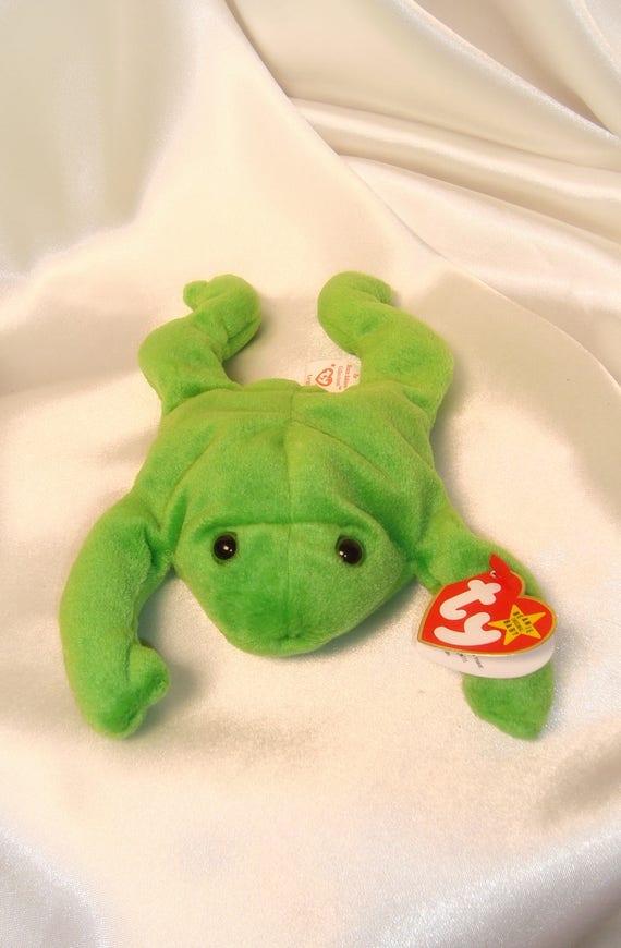 Legs Beanie Baby TY Legs Beanie Baby Mint Legs Frog Beanie  e070ec86a52
