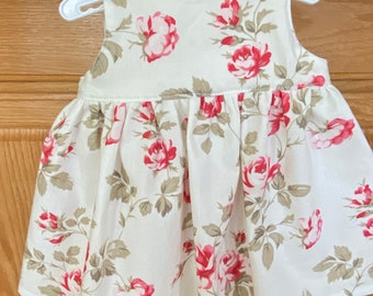 Preemie Flower Dress, Premature Baby Flower Dress, 4-5 pounds, 6 pounds