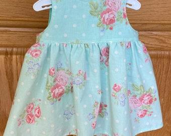 Preemie Girl Dress, Preemie Floral Dress, 4-5 pounds, 6 pounds