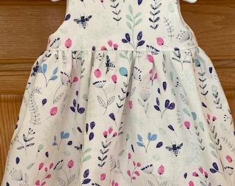 Preemie Girl Dress, Preemie Flower Dress, 4-5 pounds, 6 pounds